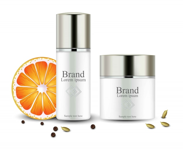 クリーム化粧品は現実的な模造品です。オレンジエキス入りハイドレーションクリーム