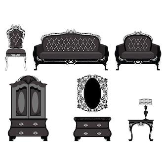 ヴィンテージ家具のコレクション