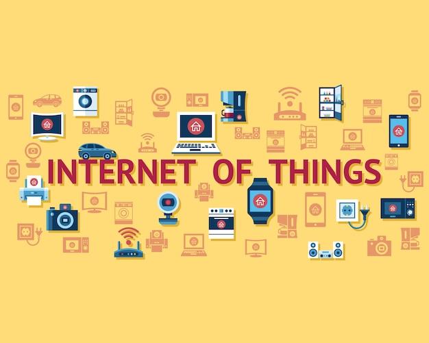 物事の概念オブジェクトアイコンコレクションスマートインターネット