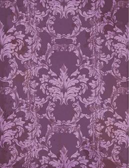 バロック豊かな紫色の柄と装飾