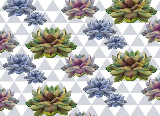 抽象的なサボテンのパターンのテクスチャ