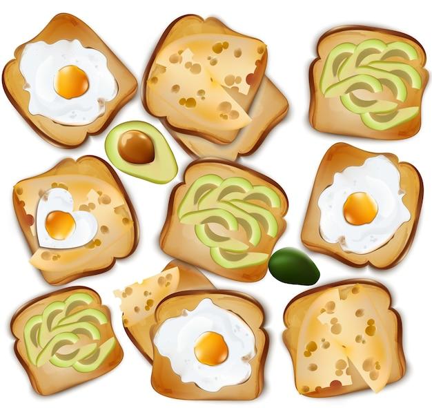 Здоровый тосты завтрак