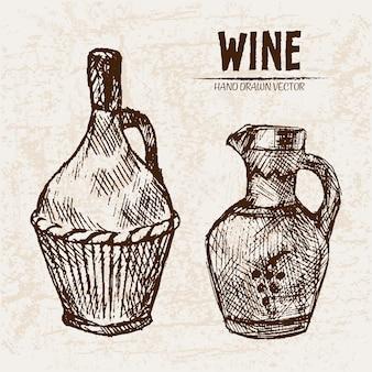 Подробное рисование рисовых вин
