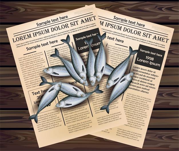 新聞のイラストに唐突な魚