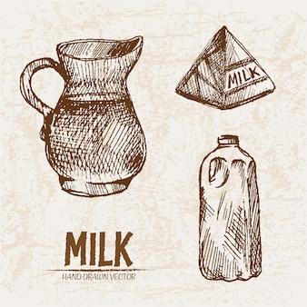 Детальное молочное изделие в разных упаковках