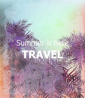 ビンテージ夏の旅行カード