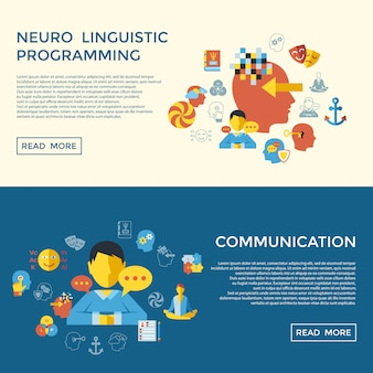 神経言語プログラミングアイコンコレクション