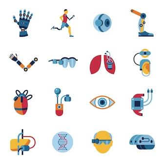 Коллекция икон бионики и искусственного интеллекта