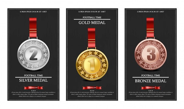 Золотые серебряные и бронзовые медали