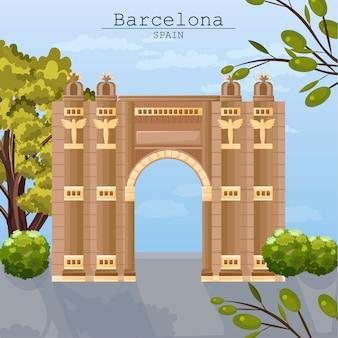 Архитектурная карта города барселоны
