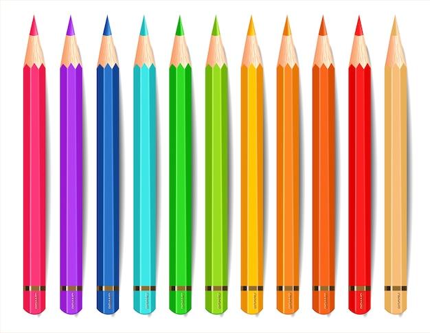 カラフルな鉛筆のコレクション