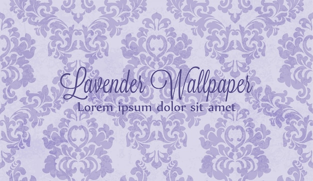 紫のダマスクの飾りのパターン