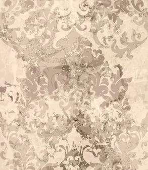 ビンテージダマスクの飾りの背景