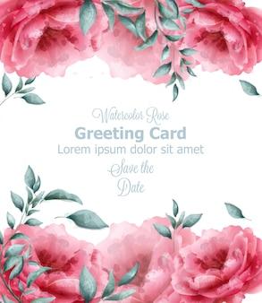Поздравительная открытка с весенними цветами баннер акварель