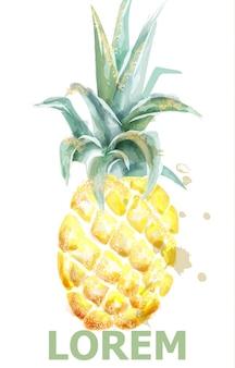 パイナップルの水彩画