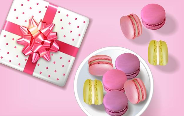 Подарочная коробка миндальное печенье