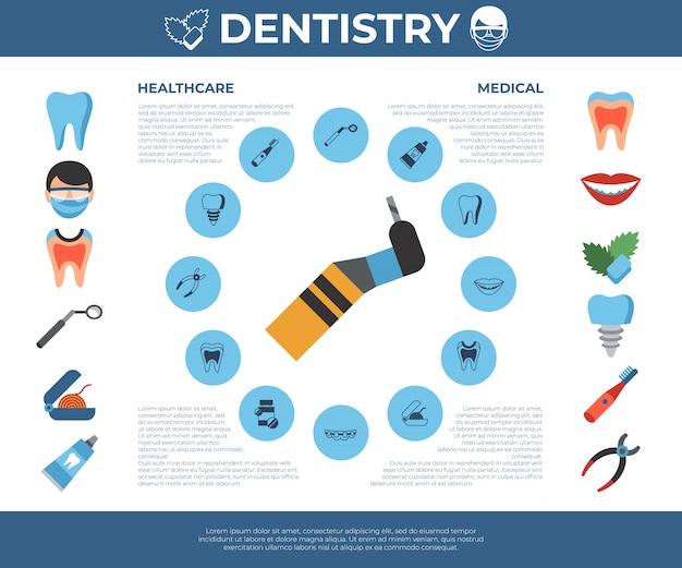 歯科およびヘルスケアのアイコン