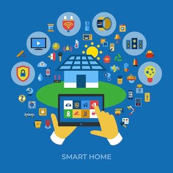 ワイヤレススマートデジタルホームアイコン