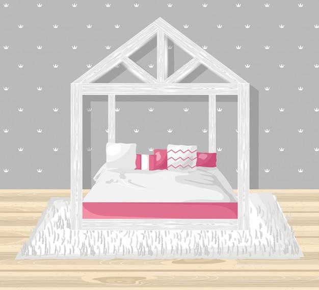 小さな女の子の寝室