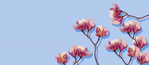マグノリアの春の花