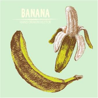 手描きのバナナの背景