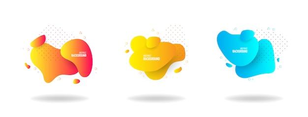 液体の色の抽象的な形、抽象的なデザインの背景。ロゴ、バナー、投稿の抽象的なグラデーション要素