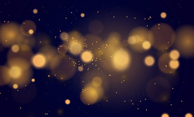 Абстрактный волшебный фон с эффектом боке огни