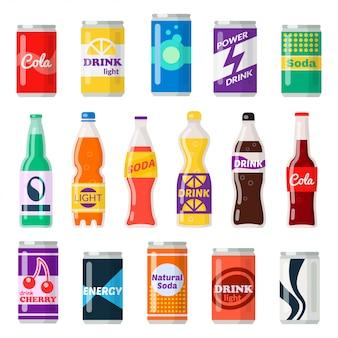 Бутылки безалкогольных напитков