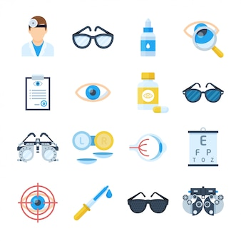Набор иконок оборудования офтальмолога
