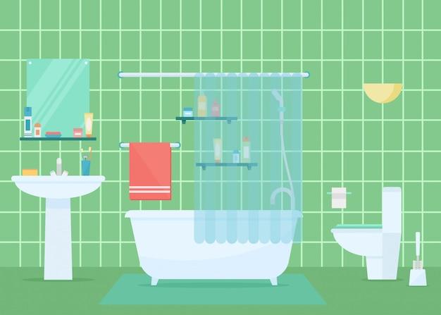 Ванная комната векторная иллюстрация