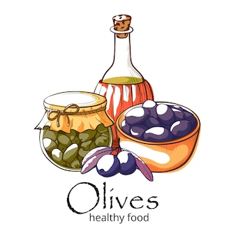 Баннер с оливковыми продуктами