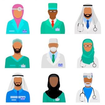 Набор арабского медицинского персонала