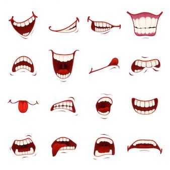 Мультфильм рот с зубами