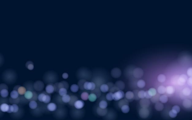 Абстрактный боке световой эффект темный фон