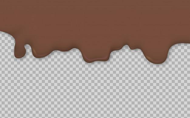 Шоколадная сливочная жидкость течет фон