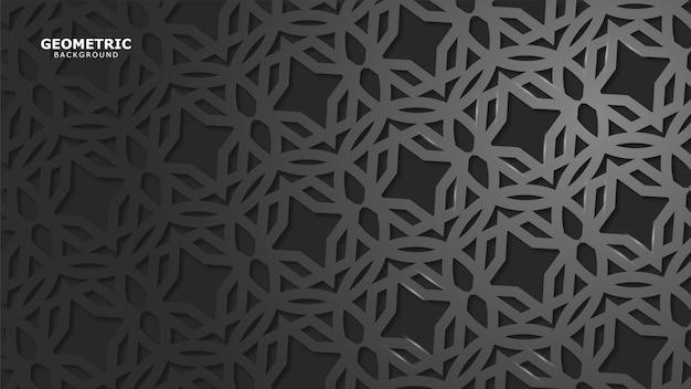 灰色の幾何学的な背景