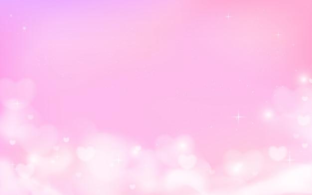 雲と星の背景を持つ魔法の空