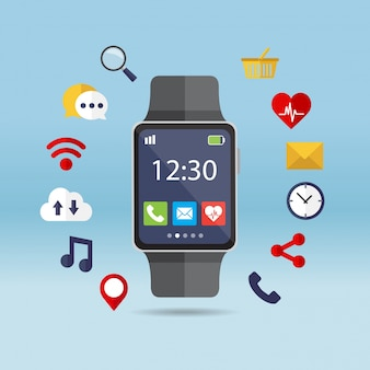 アプリケーションの周りにスマートな時計