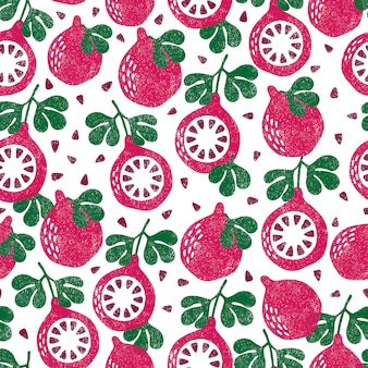 フルーツのパターン。