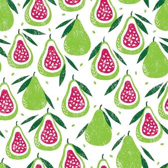 Бесшовный фон с фруктами