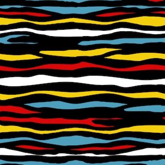 手描き抽象ベクトルのシームレスパターン。