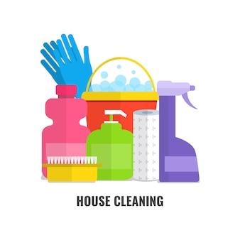 家庭用クリーニング製品とアクセサリー。