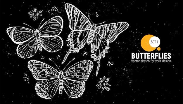 蝶のデザイン。