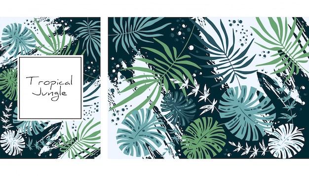 Тропические джунгли шаблон.