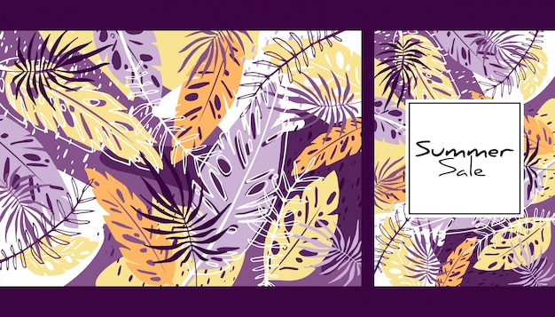 熱帯色の葉のパターン