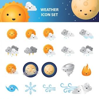 Погода набор иконок