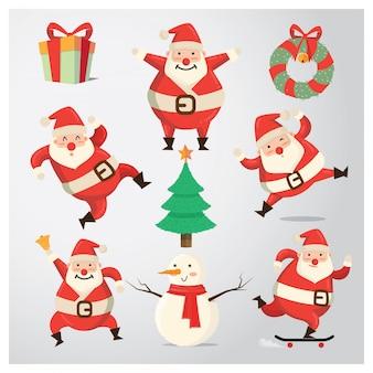 Санта-клаус танцующая стикер