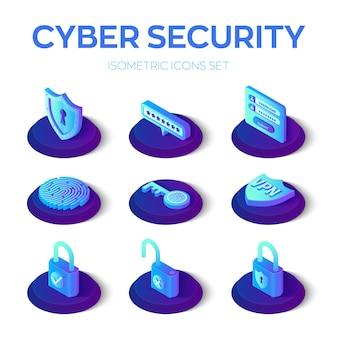 サイバーセキュリティのアイコンを設定