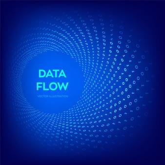 バイナリデータフロー。仮想トンネルワープ。