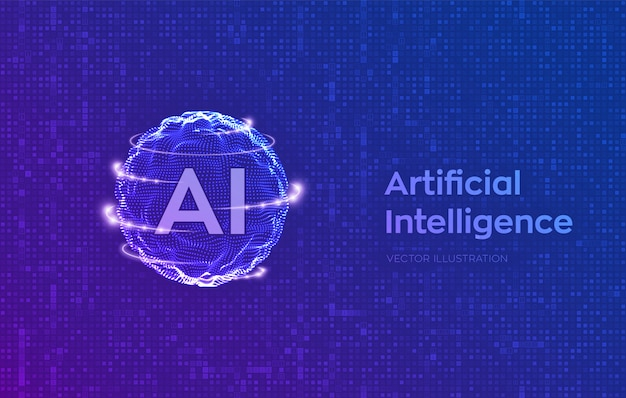 人工知能と機械学習のコンセプト。